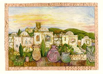 Mosaic Jerusalem - Box of 10 Cards