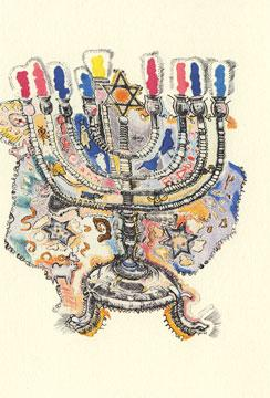 19th Century Polish Menorah - Box of 10 Cards